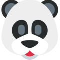 Panda Face on Twitter Twemoji 2.7