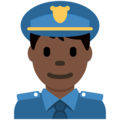 Police Officer: Dark Skin Tone on Twitter Twemoji 2.7