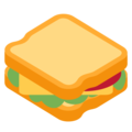 Sandwich on Twitter Twemoji 2.7