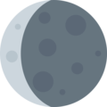 Waning Crescent Moon on Twitter Twemoji 2.7
