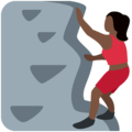 Woman Climbing: Dark Skin Tone on Twitter Twemoji 2.7