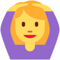Woman Gesturing OK on Twitter Twemoji 2.7