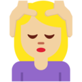 Woman Getting Massage: Medium-Light Skin Tone on Twitter Twemoji 2.7