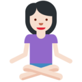Woman in Lotus Position: Light Skin Tone on Twitter Twemoji 2.7