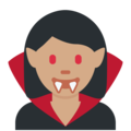 Woman Vampire: Medium Skin Tone on Twitter Twemoji 2.7