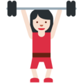 Woman Lifting Weights: Light Skin Tone on Twitter Twemoji 2.7