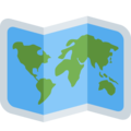World Map on Twitter Twemoji 2.7