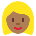 Blond-Haired Woman: Medium-Dark Skin Tone on Twitter Twemoji 11.0