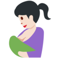 Breast-Feeding: Light Skin Tone on Twitter Twemoji 11.0