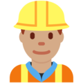 Construction Worker: Medium Skin Tone on Twitter Twemoji 11.0