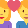 Couple With Heart: Woman, Man on Twitter Twemoji 11.0