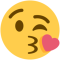 Face Blowing a Kiss on Twitter Twemoji 11.0