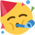 Partying Face on Twitter Twemoji 11.0
