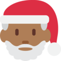 Santa Claus: Medium-Dark Skin Tone on Twitter Twemoji 11.0