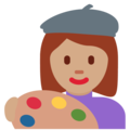 Woman Artist: Medium Skin Tone on Twitter Twemoji 11.0