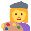 Woman Artist on Twitter Twemoji 11.0