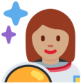 Woman Astronaut: Medium Skin Tone on Twitter Twemoji 11.0