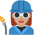 Woman Factory Worker: Medium Skin Tone on Twitter Twemoji 11.0