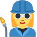 Woman Factory Worker on Twitter Twemoji 11.0
