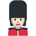 Woman Guard: Light Skin Tone on Twitter Twemoji 11.0