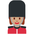 Woman Guard: Medium Skin Tone on Twitter Twemoji 11.0
