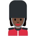 Woman Guard: Dark Skin Tone on Twitter Twemoji 11.0