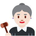 Woman Judge: Light Skin Tone on Twitter Twemoji 11.0