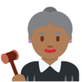 Woman Judge: Medium-Dark Skin Tone on Twitter Twemoji 11.0