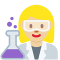 Woman Scientist: Medium-Light Skin Tone on Twitter Twemoji 11.0