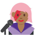 Woman Singer: Medium-Dark Skin Tone on Twitter Twemoji 11.0