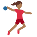 Person Playing Handball: Medium-Dark Skin Tone on Twitter Twemoji 11.0