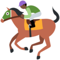 Horse Racing: Dark Skin Tone on Twitter Twemoji 11.0