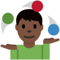 Person Juggling: Dark Skin Tone on Twitter Twemoji 11.0
