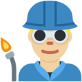Man Factory Worker: Medium-Light Skin Tone on Twitter Twemoji 11.0