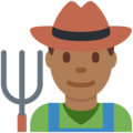 Man Farmer: Medium-Dark Skin Tone on Twitter Twemoji 11.0