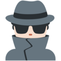 Man Detective: Light Skin Tone on Twitter Twemoji 11.0