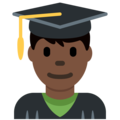 Man Student: Dark Skin Tone on Twitter Twemoji 11.0