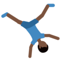 Man Cartwheeling: Dark Skin Tone on Twitter Twemoji 11.0