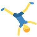 Man Cartwheeling on Twitter Twemoji 11.0