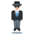 Man in Suit Levitating: Light Skin Tone on Twitter Twemoji 11.0