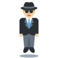 Man in Suit Levitating: Medium-Light Skin Tone on Twitter Twemoji 11.0