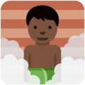 Man in Steamy Room: Dark Skin Tone on Twitter Twemoji 11.0