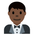 Man in Tuxedo: Dark Skin Tone on Twitter Twemoji 11.0