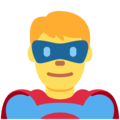 Man Superhero on Twitter Twemoji 11.0