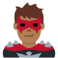 Man Supervillain: Medium-Dark Skin Tone on Twitter Twemoji 11.0