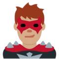 Man Supervillain: Medium Skin Tone on Twitter Twemoji 11.0