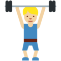 Man Lifting Weights: Medium-Light Skin Tone on Twitter Twemoji 11.0