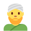 Person Wearing Turban on Twitter Twemoji 11.0