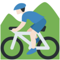 Person Mountain Biking: Light Skin Tone on Twitter Twemoji 11.0