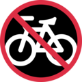 No Bicycles on Twitter Twemoji 11.0